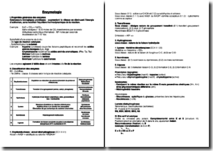 Généralités sur l'enzymologie et les enzymes