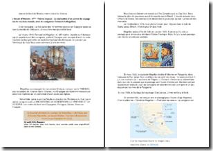 La réalisation d'un carnet de voyage sur le nouveau monde, avec le navigateur Fernand de Magellan
