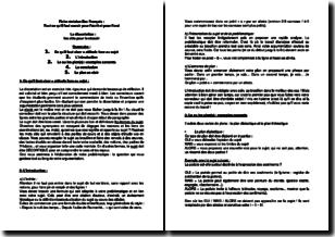 Fiche de révision BAC français - Tout ce qu'il faut savoir pour l'écrit et pour l'oral - Les clés pour réussir une dissertation