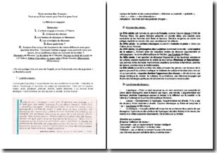 Fiche de révision BAC français - Tout ce qu'il faut savoir pour l'écrit et pour l'oral - La littérature engagée