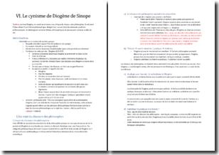 Le cynisme de Diogène de Sinope