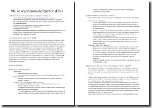 Le scepticisme de Pyrrhon d'Elis