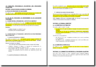 Les modalités procédurales d'ouverture des procédures collectives