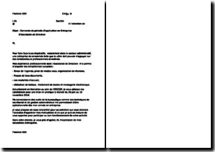 Modèle de lettre pour une demande de période d'application en entreprise d'assistante de direction