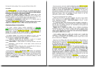 Sociologie de l'action publique - Pierre Lascoules et Patrick le Galès (2012)