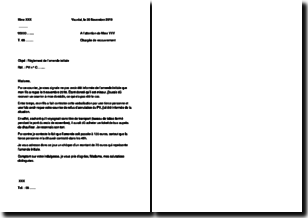 Modèle de lettre pour une contestation d'amende