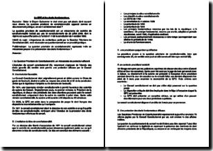 La question prioritaire de constitutionnalité (QPC) et les droits fondamentaux