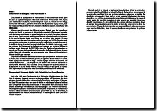 Synthèse sur l'insurrection de Budapest et sur le discours de J.F. Kennedy du 4 juillet 1962
