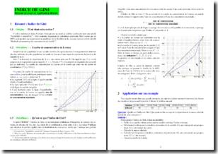Indice de Gini : résumé de cours et application directe