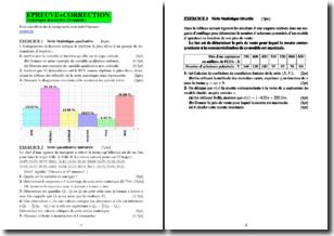 Statistiques descriptive - Exercices et corrigés