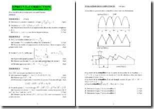 Mathématiques première technologique - Exercices et corrigés