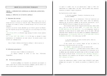 Introduction Générale au Droit de la Fonction Publique