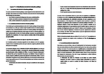 Cours de droit de la fonction publique (version 2)