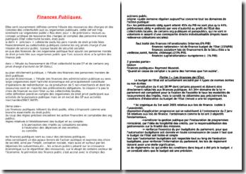 Cours de Finances Publiques 2008