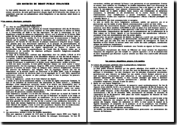 Les sources du droit public financier