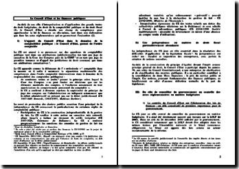 Le Conseil d'Etat et les finances publiques - rôle d'interprétation des textes et appréhension de la loi