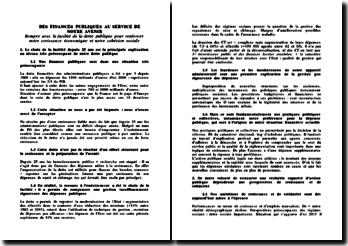 Synthèse du rapport Pébereau sur la dette