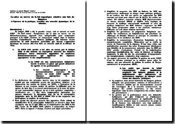 Synthèse du rapport Migaud Lambert sur la mise en oeuvre de la LOLF