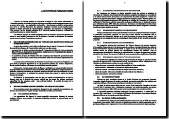 Les contrôle parlementaires de la loi de finance