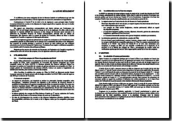 La loi de réglement - une approche qui vise la constatation et l'approbation