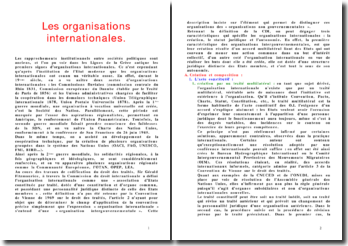 Le droit des organisations internationales