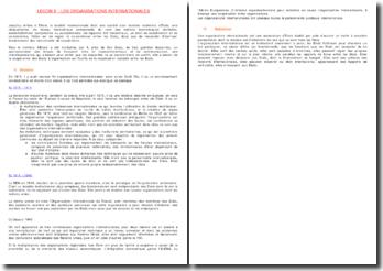 Histoire et définition des organisations internationales