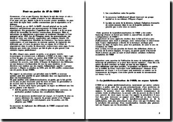 La jurisprudence de l'organe de règlement des différends de l'OMC