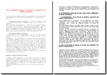 Force obligatoire-force exécutoire, l'affaire Lagrand