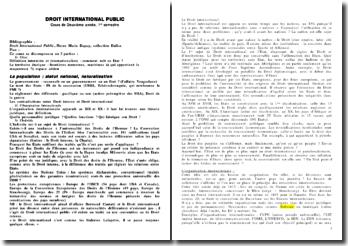 Introduction au droit international public