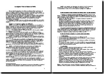 Le chapitre VI de la Charte de l'ONU