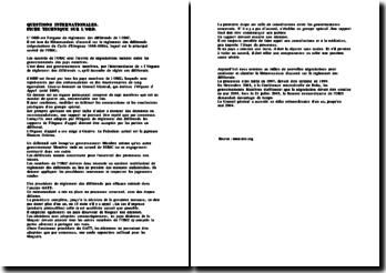 L'ORD (Organe de Règlement des Différends) de l'OMC