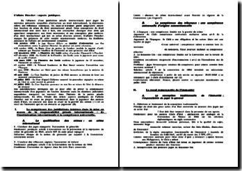 L'affaire Pinochet : aspects juridiques.