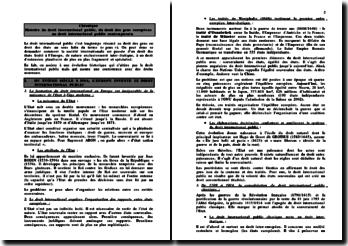 Histoire du droit international public, du droit des gens européens au droit international public contemporain