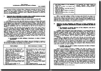 La Déclaration universelle des Droits de l'Homme (DUDH)