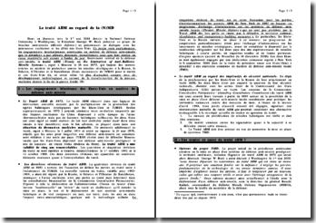 Le traité ABM au regard de la (N)MD