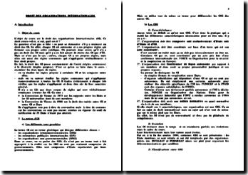 Cours de droit des Organisations Internationales (OI)
