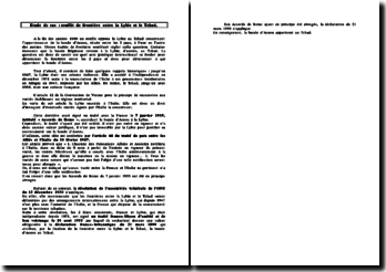 Etude de cas: la frontière entre la Lybie et le Tchad, conflit relatif à la bande d'Aozou