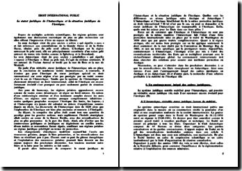 Le statut juridique de l'Antarctique et la situation juridique de l'Arctique