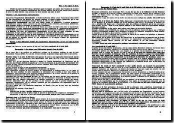 Cours de droit international public (2009)