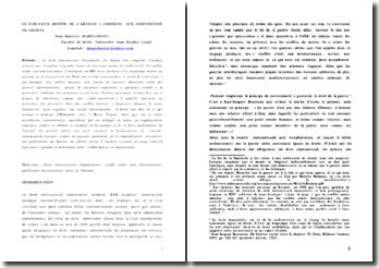 Le fabuleux destin de l'article 3 commun aux Conventions de Genève
