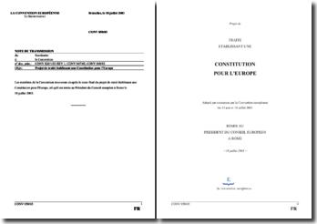 Projet de traité établissant une Constitution pour l'Europe