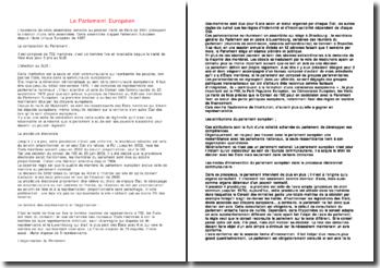 Le Parlement Européen depuis le traité de Paris de 1951