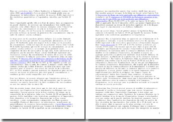 Commentaire des conclusions de l'avocat general dans l'affaire Gysbrechts et Santurel