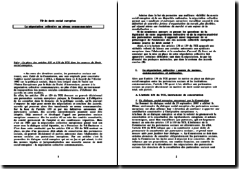 La place des articles 138 et 139 du TCE dans les sources du Droit social européen