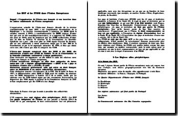 Les régions ultra périphériques RUP et les pays et territoire d'outre-mer PTOM dans l'Union Européenne