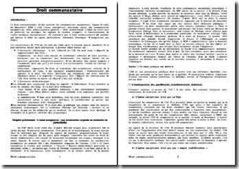 Cours sur le droit communautaire - sources, mise en oeuvre, sanction juridictionnelle