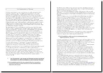 La Constitution et l'Europe