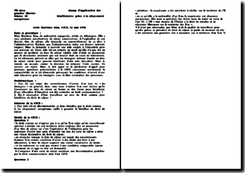 CJCE, 12 mai 1998 - Martinez Sala