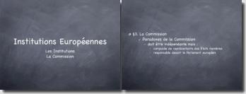 Les institutions et la commission européennes