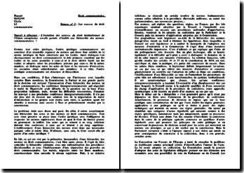 L'évolution des sources du droit institutionnel de l'Union européenne a-t-elle permis d'établir une hiérarchie